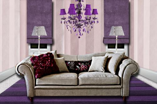 Le violet en d coration d 39 int rieur floriane lemari - Salon couleur violet ...