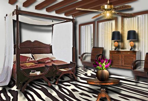 Chambre coloniale floriane lemari - Tete de lit coloniale ...