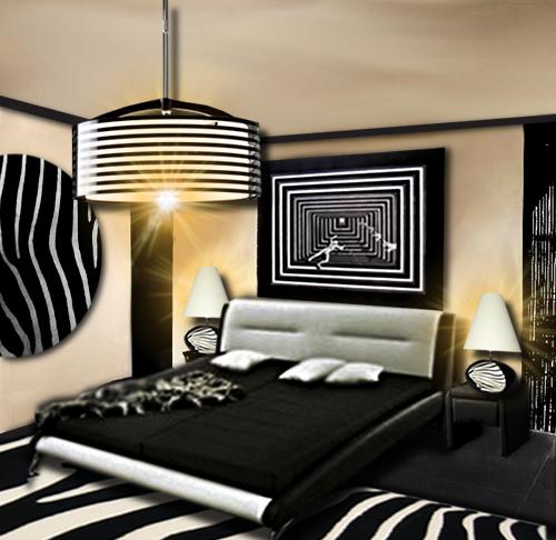 decoration zebre chambre. Black Bedroom Furniture Sets. Home Design Ideas