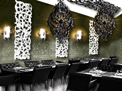 un restaurant baroque floriane lemari. Black Bedroom Furniture Sets. Home Design Ideas