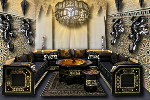 salon marocain floriane lemari. Black Bedroom Furniture Sets. Home Design Ideas