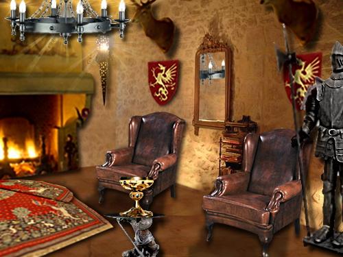 un salon d cor fa on moyen age floriane lemari. Black Bedroom Furniture Sets. Home Design Ideas