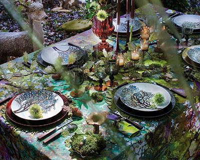 Inspirations de belles tables pour no l floriane lemari for Deco de table nature