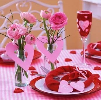 Pr parez une belle table pour la saint valentin - Decoration de la table ...