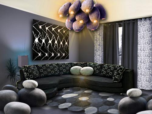 un salon de galets floriane lemari. Black Bedroom Furniture Sets. Home Design Ideas