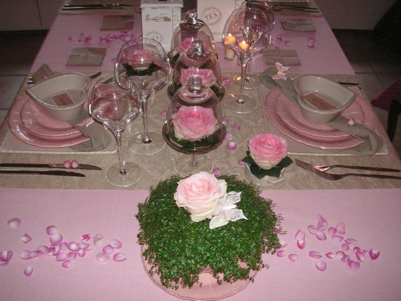 L 39 id e d co du dimanche d coration de table pour la f te des m res fl - Table de fetes decoration ...