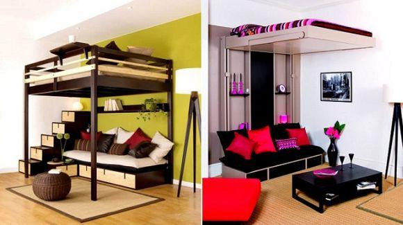 Comment meubler un petit appartement tendance multifonction floriane lemari - Idee deco petit appartement ...
