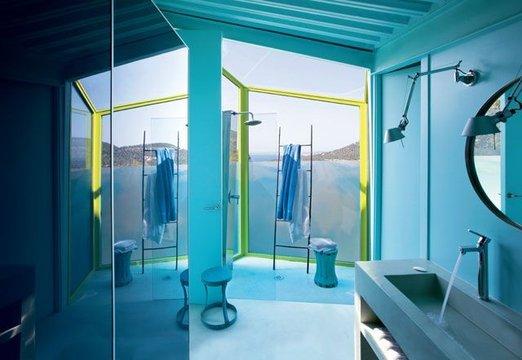 une maison couleur bleu lagon floriane lemari. Black Bedroom Furniture Sets. Home Design Ideas