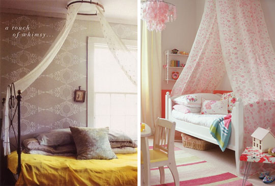 10 id es pour transformer votre lit en baldaquin - Como hacer un pabellon para cama ...