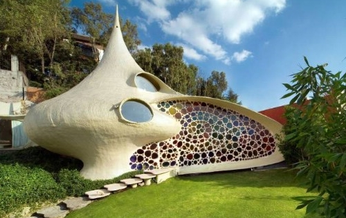 Nautilus house une maison coquillage floriane lemari for La maison du mexique