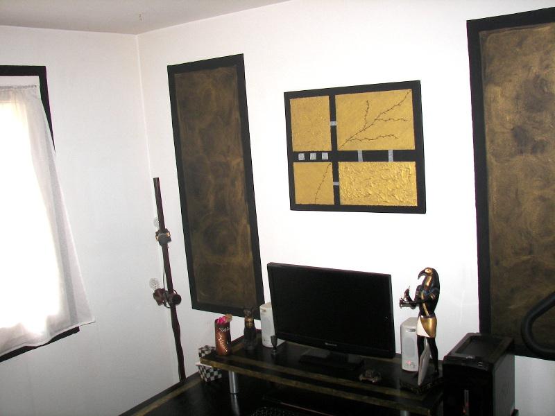 D coration d 39 un bureau dans une ambiance gypte ancienne for Idee decoration bureau