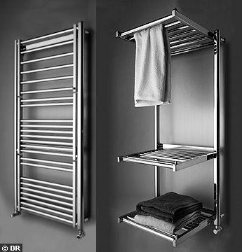 du design dans la salle de bain avec les s che serviettes. Black Bedroom Furniture Sets. Home Design Ideas