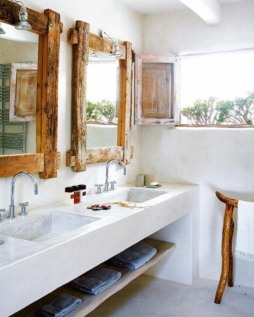 Le bois habille la salle de bain floriane lemari for Salle de bain pinterest