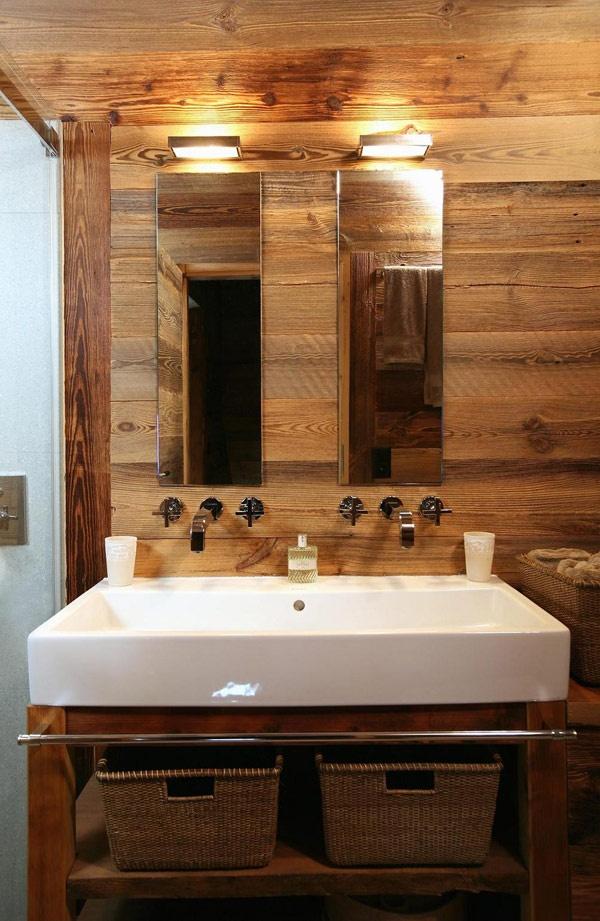 Le bois habille la salle de bain floriane lemari - Lambris salle de bain bois ...