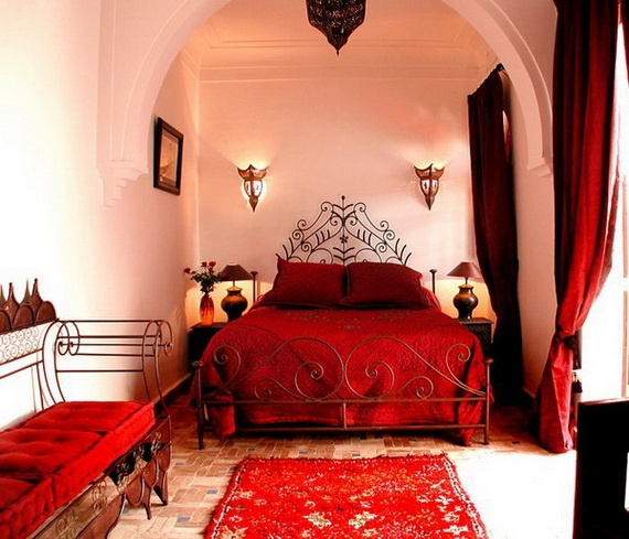 Des chambres mille et une nuits floriane lemari for Bedroom decorating ideas with red carpet
