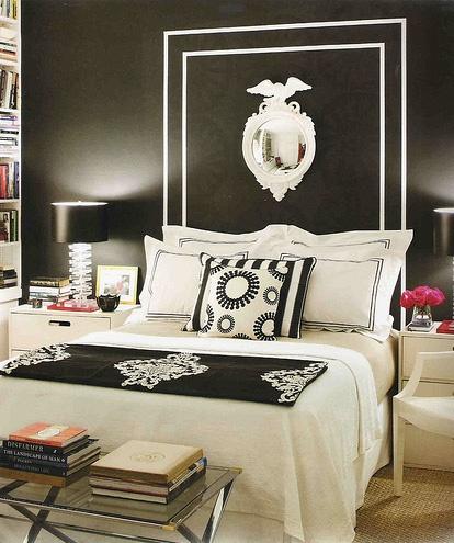 l 39 id e d co du dimanche une t te de lit peinte sur le mur floriane lemari. Black Bedroom Furniture Sets. Home Design Ideas