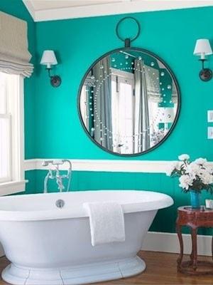 meuble de salle de bain turquoise d co salle de bain turquoise - Salle De Bain Turquoise Et Bois
