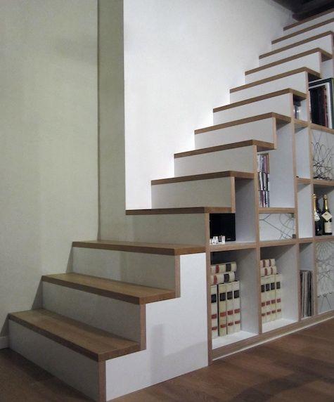 L 39 escalier est aussi un espace de rangement floriane - Rangement sous escalier tournant ...