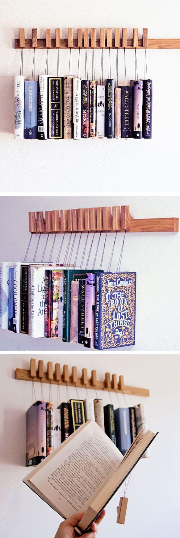 L 39 id e d co du samedi des livres suspendus floriane lemari - Deco bibliotheque originale ...