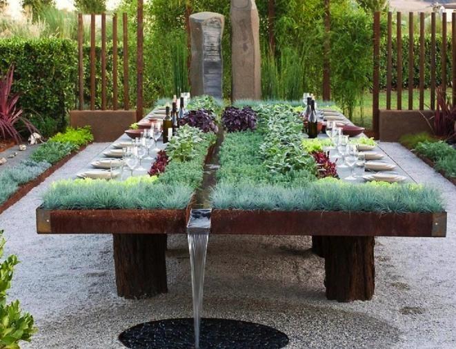 Des Tables De Jardin Originales Floriane Lemari - indoor beer garden design ideas