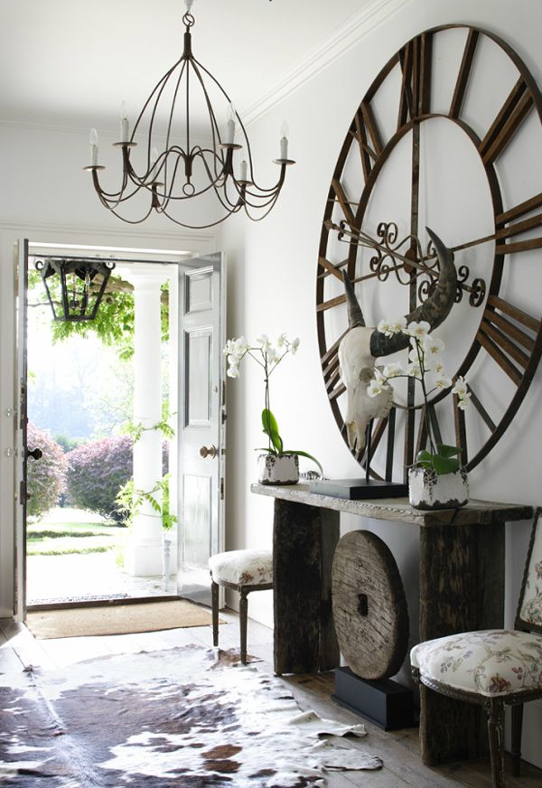 Tre l 39 heure pour la rentr e les horloges g antes en d co floriane lemari - Decorating small apartment interior ideas exceptionally with extraordinary features ...