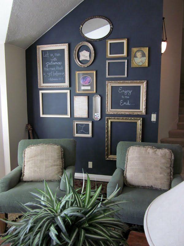 Rentr e 2014 la peinture ardoise floriane lemari for Tableau sur mur blanc