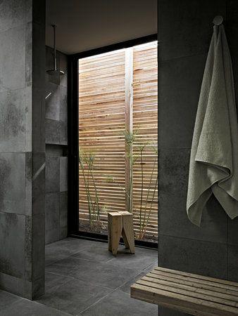 Des salles de bains en b ton floriane lemari - Badkamer zen natuur ...