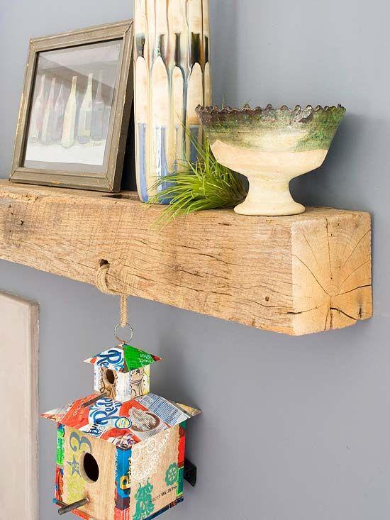 l 39 id e d co du dimanche une tag re avec une poutre floriane lemari. Black Bedroom Furniture Sets. Home Design Ideas