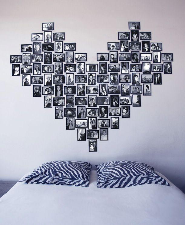 L 39 id e d co du dimanche r aliser un c ur t te de lit avec des photos - Tete de lit en forme de coeur ...