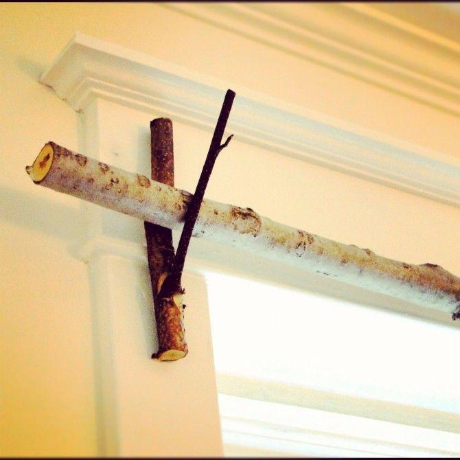 DIY : fabriquer une tringle à rideaux avec une branche ...