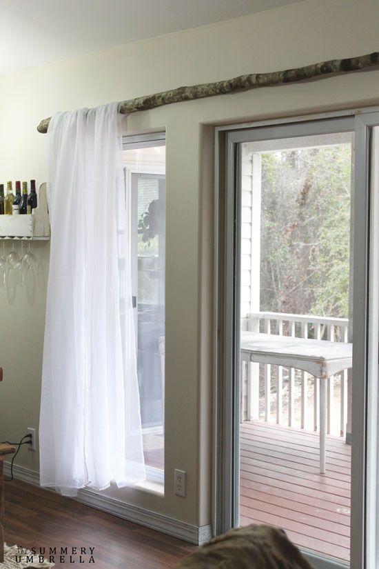 diy fabriquer une tringle rideaux avec une branche. Black Bedroom Furniture Sets. Home Design Ideas