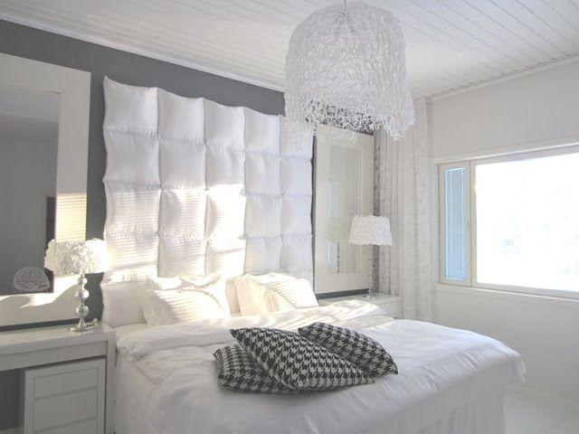 Diy fabriquer une t te de lit avec des oreillers - Fabriquer une tete de lit ...