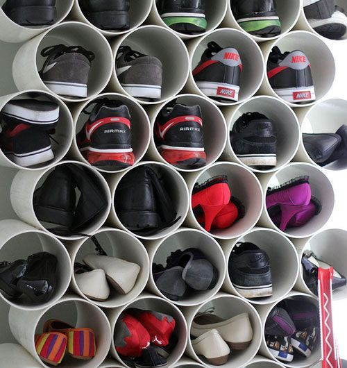 rangement chaussure tuyau