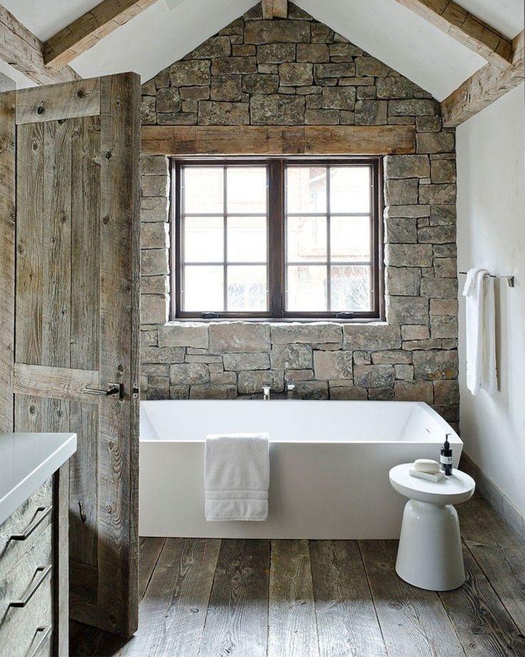 Du rustique dans la salle de bain floriane lemari for Salle bain rustique