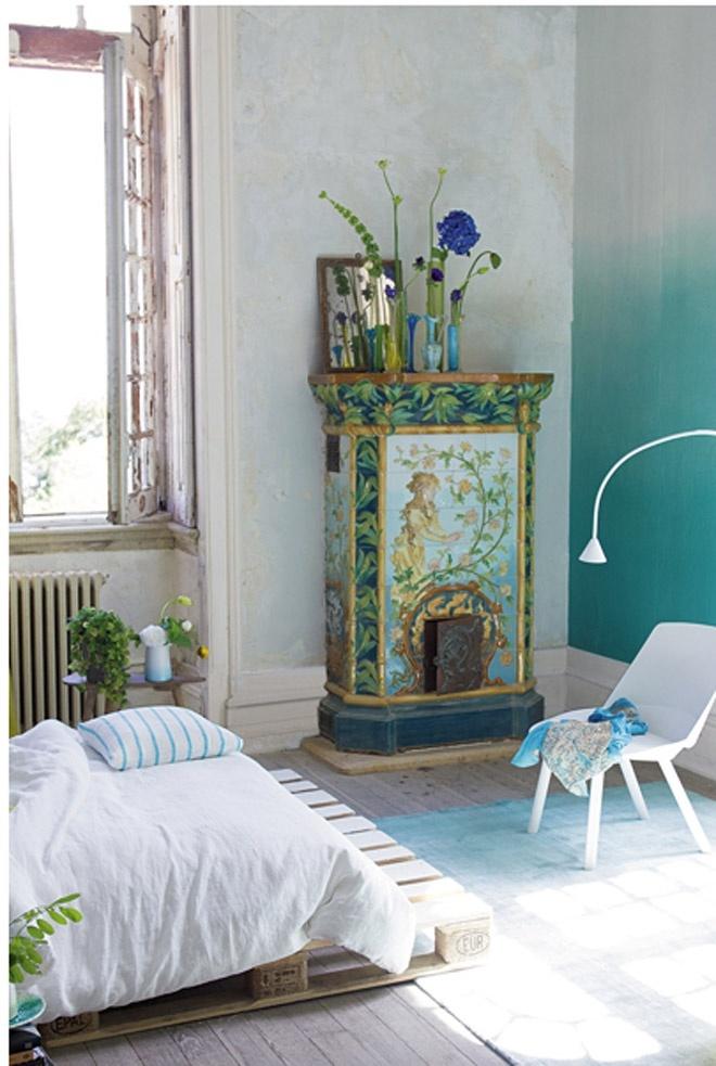 des chambres turquoise pour l 39 t floriane lemari. Black Bedroom Furniture Sets. Home Design Ideas