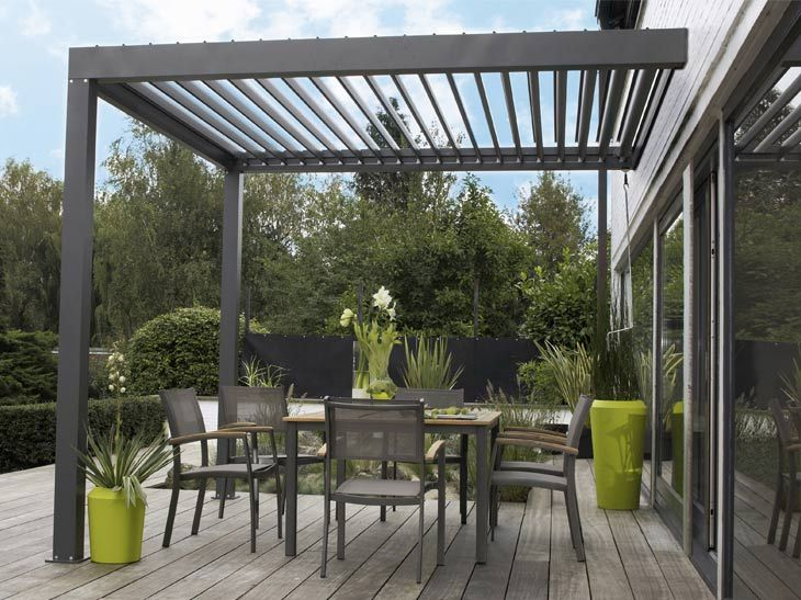 des auvents de terrasse pour se prot ger du soleil. Black Bedroom Furniture Sets. Home Design Ideas