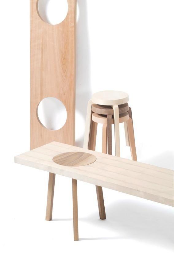 Diy fabriquer un banc avec des tabourets floriane lemari - Fabriquer un tabouret en bois ...