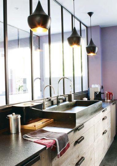 Le style industriel dans la cuisine floriane lemari for Pinterest deco cuisine