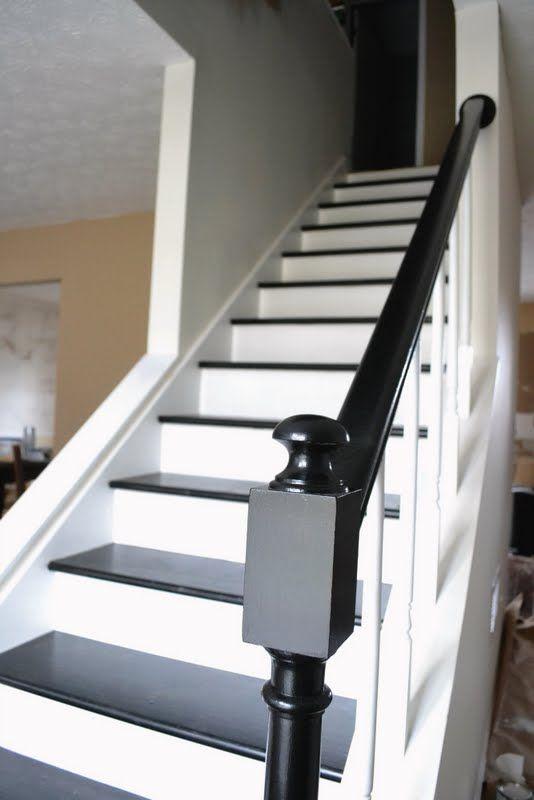 Escalier Peint En Noir Et Blanc Id Es De Conception Sont Int Ressants Votre