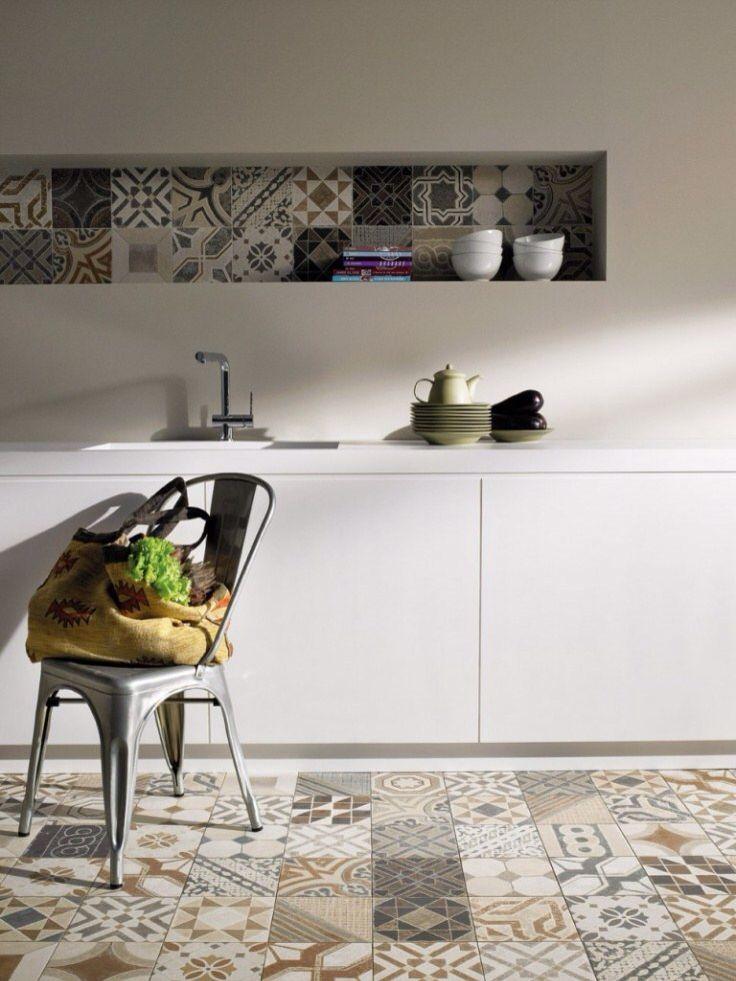 Les carreaux de ciment grimpent aux murs floriane lemari - Carreaux muraux cuisine ...