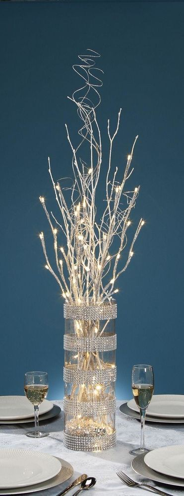 diy r aliser un vase lumineux pour votre table du nouvel. Black Bedroom Furniture Sets. Home Design Ideas