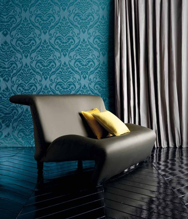 d co bleu canard et jaune floriane lemari. Black Bedroom Furniture Sets. Home Design Ideas