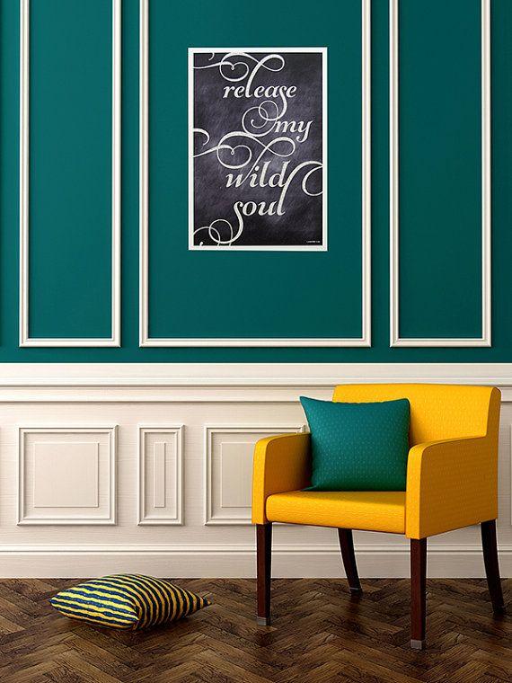 Deco bleu canard et or for Peinture couleur bleu canard