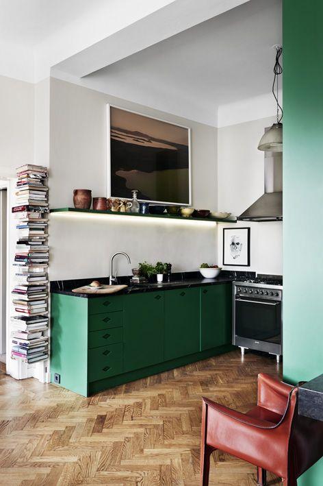 Deco Salon Moderne Et Bois : Decoration Cuisine Verte Voici De L Inspiration D Aménagement