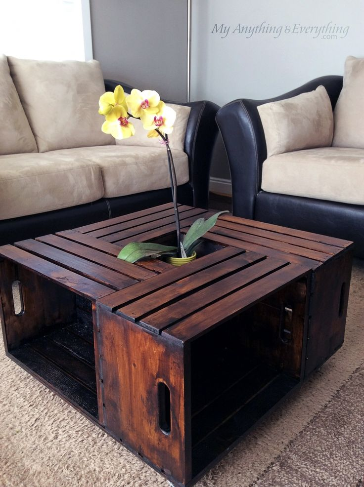 diy r aliser une table basse avec des caisses en bois. Black Bedroom Furniture Sets. Home Design Ideas