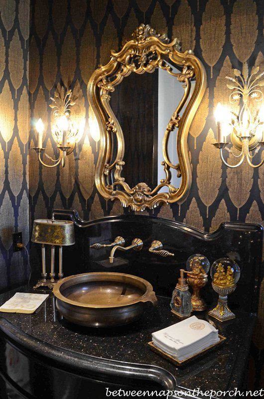 Des salles de bain noir et or Floriane Lemari233 : sdb noir et or 4 from www.flemarie.fr size 530 x 800 jpeg 106kB