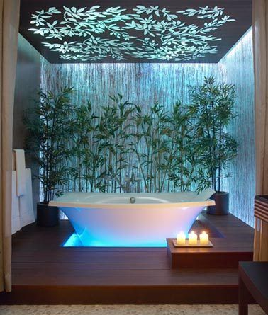 Ambiance zen dans la salle de bain floriane lemari for Photos salle de bain zen et nature