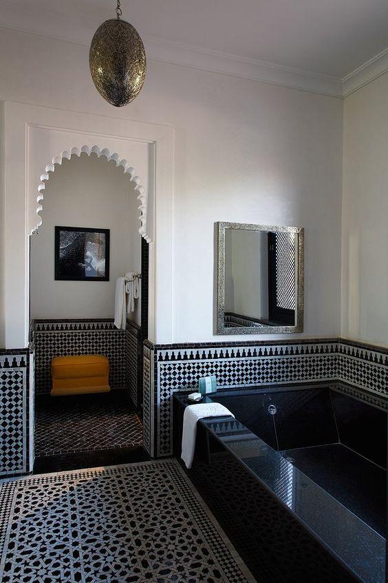 luminaire oriental salle de bain
