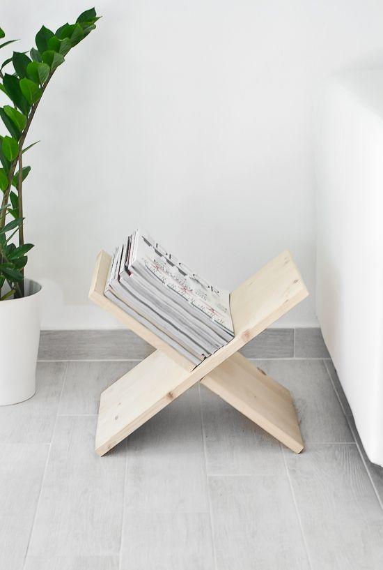 L 39 id e d co du samedi fabriquer en porte revues en bois - Porte revues en bois ...