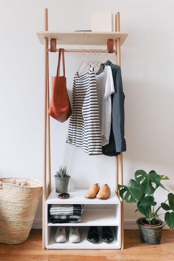 diy fabriquer un meuble penderie design pour l entr e. Black Bedroom Furniture Sets. Home Design Ideas